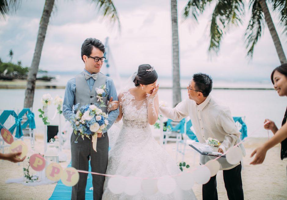 セブ島・結婚式 パシフィック・セブ・リゾート 新郎新婦