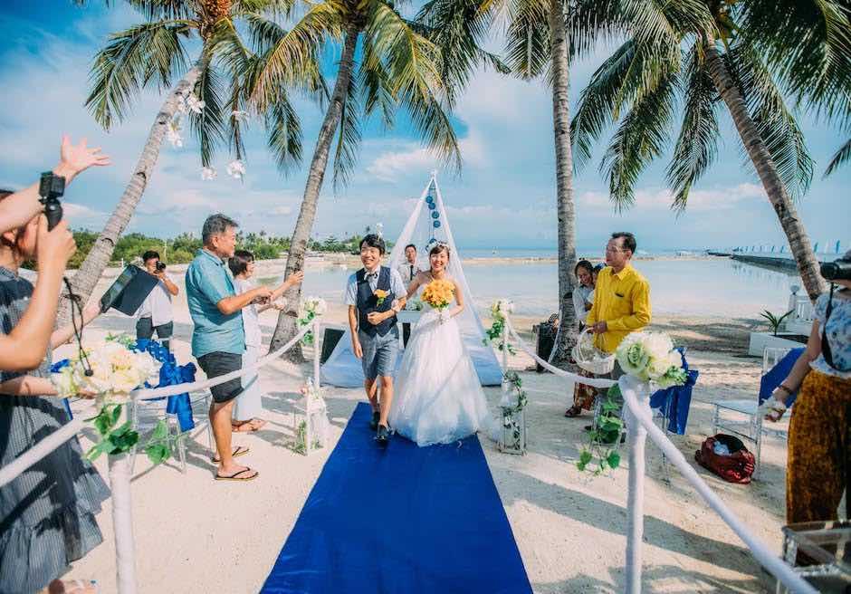 セブの結婚式のゲスト