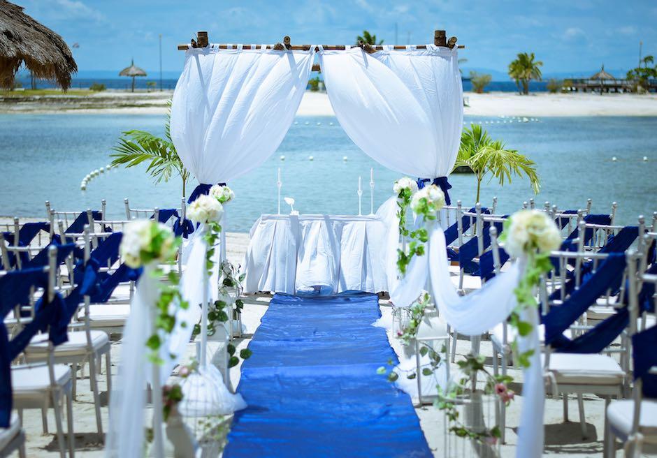 ブルーウォーター・マリバゴ・ビーチリゾート セブ島ビーチ挙式会場 セブウェディングパーティー