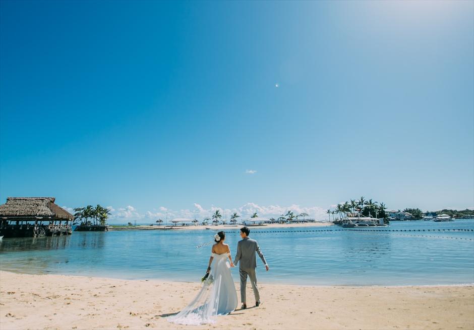 セブ島結婚式 挙式前フォト ビーチ・フォト ブルーウォーター・マリバゴ
