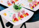 ブルーウォーター・マリバゴ・ビーチ・リゾート ウェディングパーティー コースディナーメニュー 一例