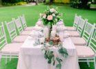 セブ・ホワイト・サンズ ガーデンウェディング パーティー会場 テーブル装飾 一覧