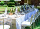 モンテベッロ・ヴィラ・ホテル ガーデンパーティー会場 テーブル装飾 一例