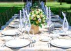 モンテベッロ・ヴィラ・ホテル ガーデン パーティー会場 テーブル装飾 一例