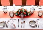 プランテーション・ベイ・リゾート&スパ フィジー・レストラン 屋内パーティー会場 テーブル装飾 一例